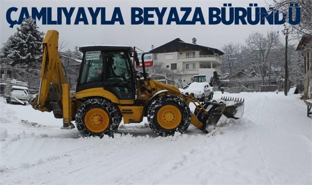 Çamlıyayla'da Kar Yağışı