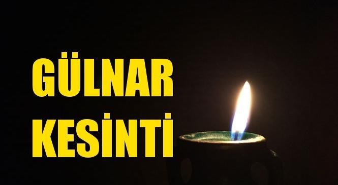 Gülnar Elektrik Kesintisi 24 Temmuz Cumartesi