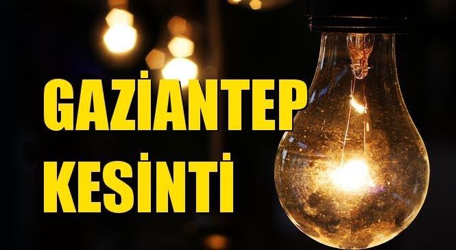 Gaziantep Elektrik Kesintisi 22 Eylül Çarşamba