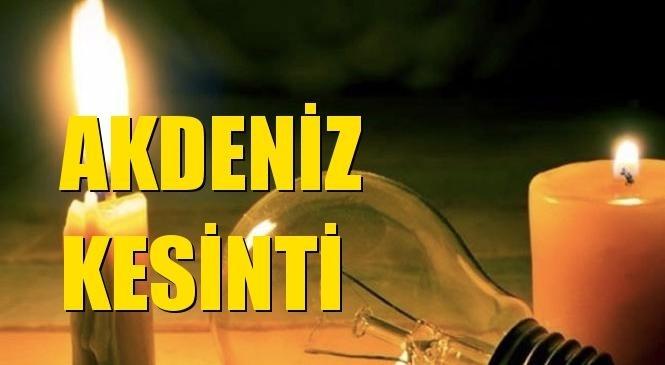 Akdeniz Elektrik Kesintisi 23 Eylül Perşembe