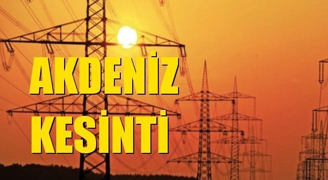 Akdeniz Elektrik Kesintisi 13 Ekim Çarşamba