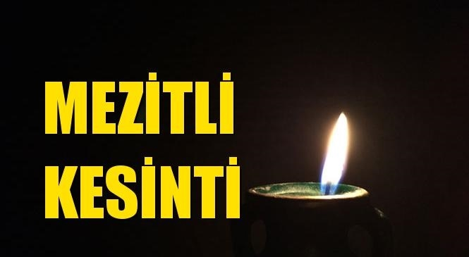Mezitli Elektrik Kesintisi 13 Ekim Çarşamba