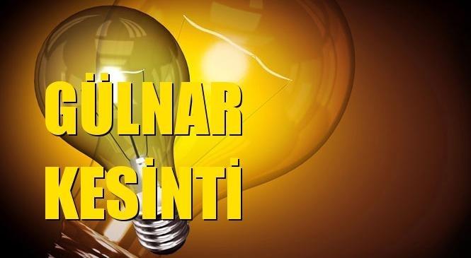 Gülnar Elektrik Kesintisi 13 Ekim Çarşamba