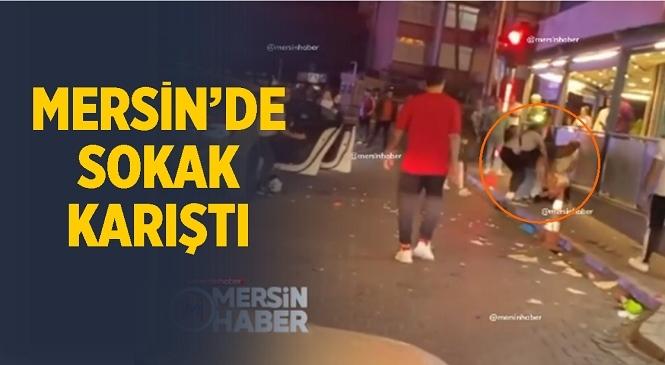 Mersin'de Bağırarak Çevreye Rahatsızlık Veren Şahıs Tekme Tokat Dövüldü