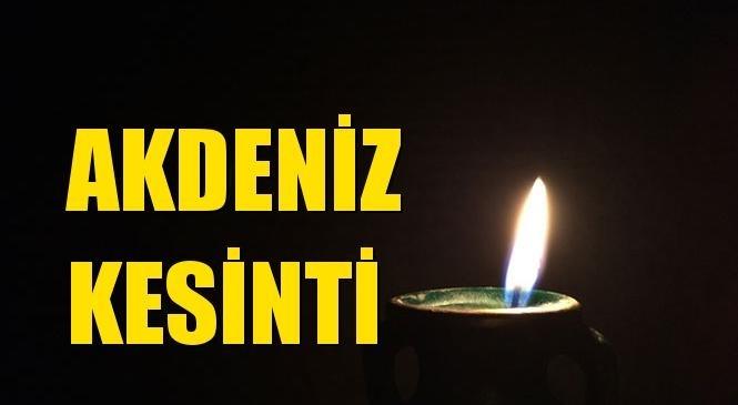 Akdeniz Elektrik Kesintisi 18 Ekim Pazartesi