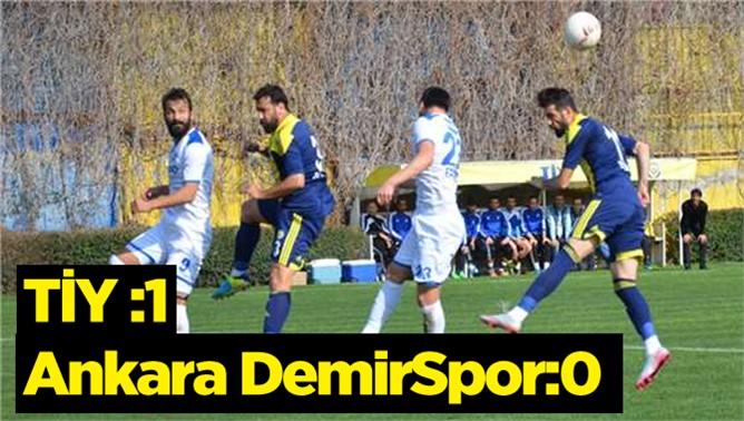 Tarsus İdmanyurdu 1, Ankara Demirspor 0