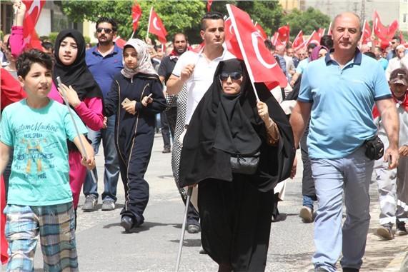 Midyat halkından PKK'ya  büyük tepki