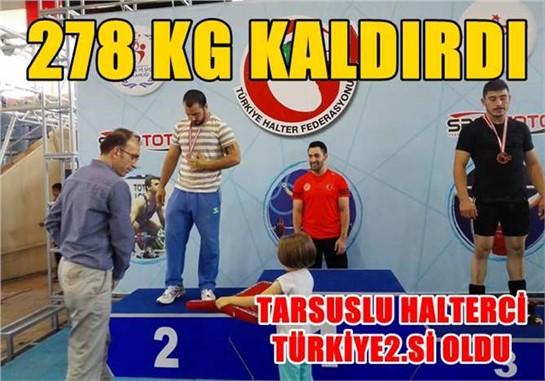 Tarsuslu Halterci Türkiye 2.si Oldu