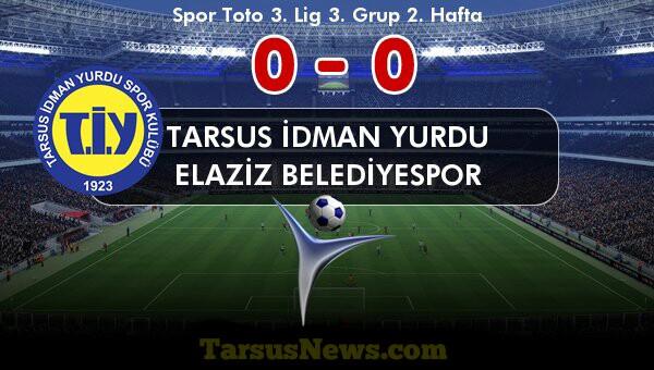 Tarsus İdmanyurdu:0  Elaziz Belediyespor :0