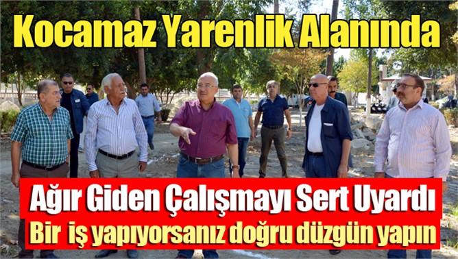 Başkan Kocamaz Tarsus'ta İncelemede Bulundu
