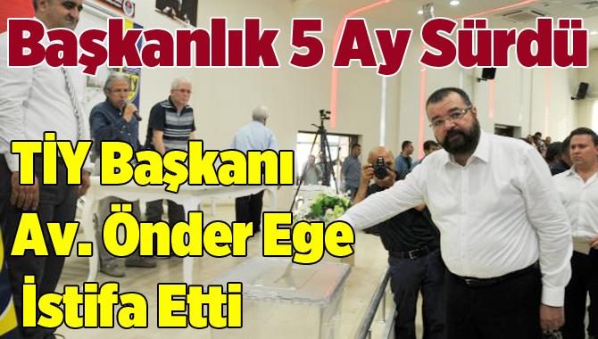 Tarsus İdmanyurdu Klüp Başkanı Önder Ege İstifa Etti