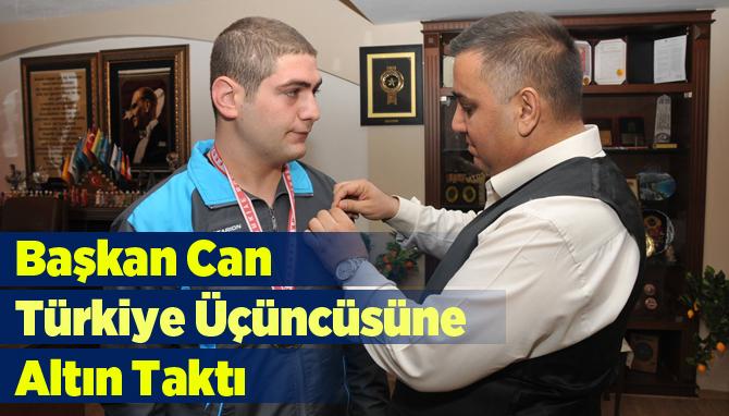 Boks Şampiyonası Türkiye 3.'sünden Başkan Can'a Ziyaret