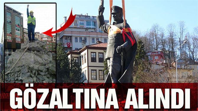Atatürk heykeli indirilirken çekilen fotoğrafa soruşturma