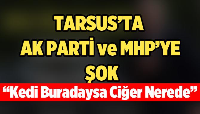 Tarsus'ta AK Parti ve MHP'ye Şok
