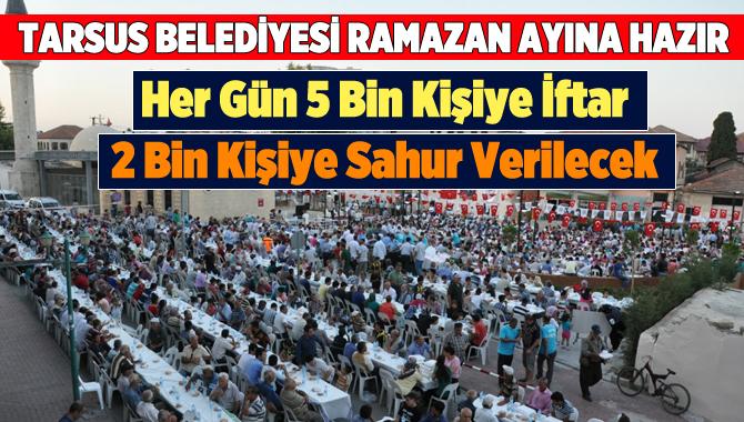 Tarsus Belediyesi'nde Ramazan Hazırlıkları Devam Ediyor