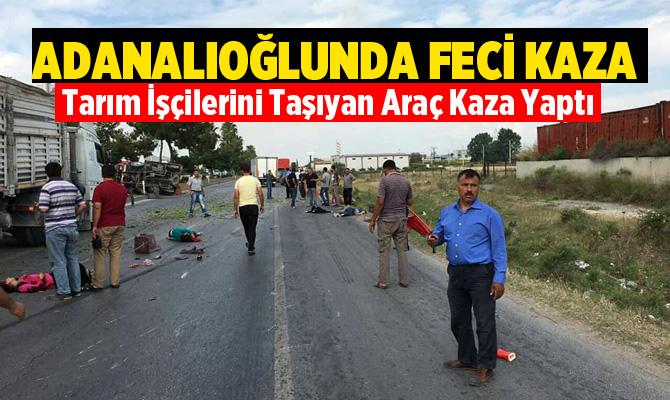 Tarsus-Mersin Yolunda feci kaza