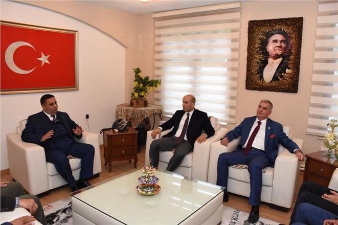 Ülkü Ocakları Genel Başkanı Olcay Kılavuz'dan, Belediye Başkanı Can'a Ziyaret