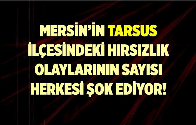 Tarsus'ta 'Hırsızlık' Sayısı Herkesi Şok Etti