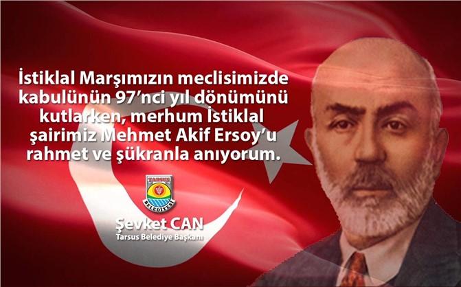 Başkan Can, İstiklal Marşının 97'nci Yıl Dönümünü Kutladı