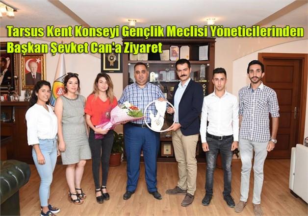 Tarsus Kent Konseyi Gençlik Meclisi Yöneticilerinden Başkan Şevket Can'a Ziyaret