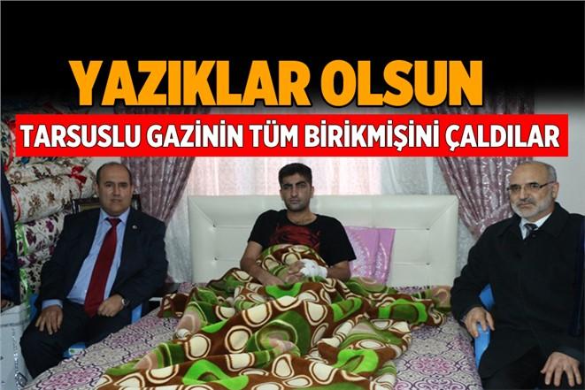 Tarsus'ta Terör Gazisi Celal Erbay'ın Evine Hırsız Girdi. Tüm Altınlarını Çaldılar