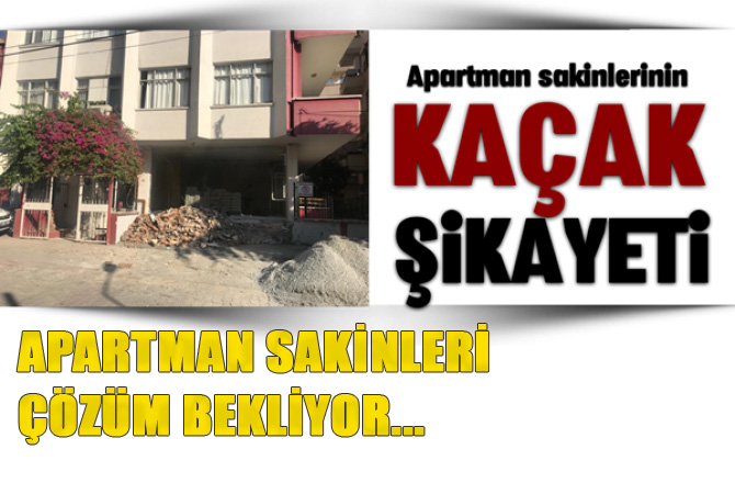 Tarsus'ta Apartman Sakinlerinden Tepki