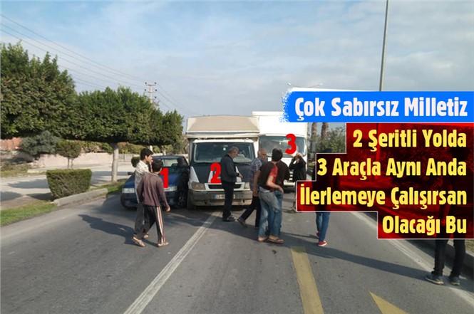 Tarsus'ta D-400 Yolunda Zincirleme Kaza