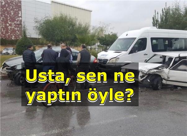 Mersin Tarsus'ta Tamir Ettiği Arabayı Test İçin Yola Çıkan Usta 5 Araca Çarptı