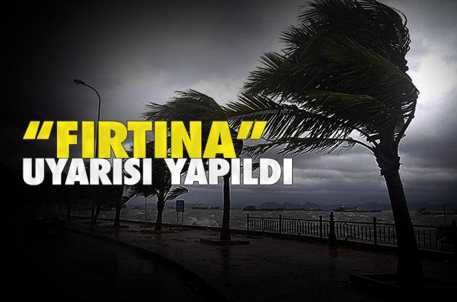 """Akdeniz'de Fırtına Bekleniyor! """"Fırtına"""" Karşı Tedbirli Olunması İstenildi"""