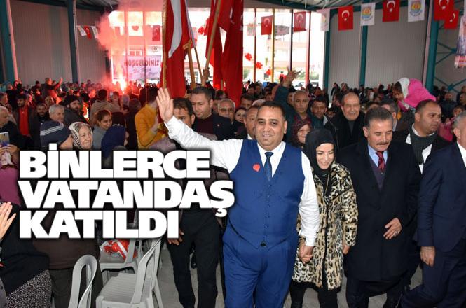 Tarsus Modern Semt Pazarına Kavuştu,Yağmura Rağmen Binlerce Kişi Başkan Can'ı Coşkuyla Karşıladı