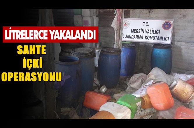 Mersin'de Sahte İçki Operasyonu! Tarsus'ta Düzenlenen Operasyonda 2.650 Litre Sahte İçki Ele Geçirildi.