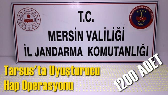 Mersin Tarsus Taşkuyu'da Jandarmadan Uyuşturucu Extacy Hap Operasyonu