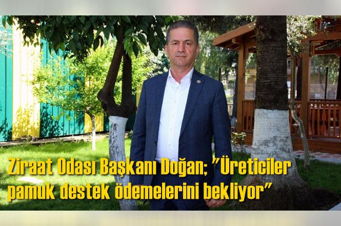 """Yüreğir Ziraat Odası Başkanı Mehmet Akın Doğan; """"Üreticiler pamuk destek ödemelerini bekliyor"""""""