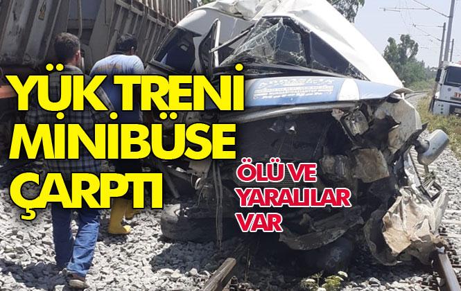 Yenice Mahallesinde Yük Treni Minibüse Çarptı, Kazada İlk Bilgilere Göre Kazada 1 Kişi Öldü, 2'si Ağır 4 Yaralandı