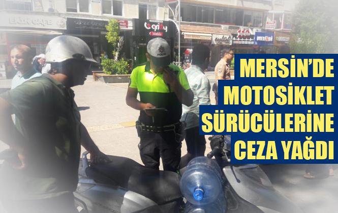 Tarsus'ta Motosiklet Sürücülerine Trafik Denetimi Yapıldı