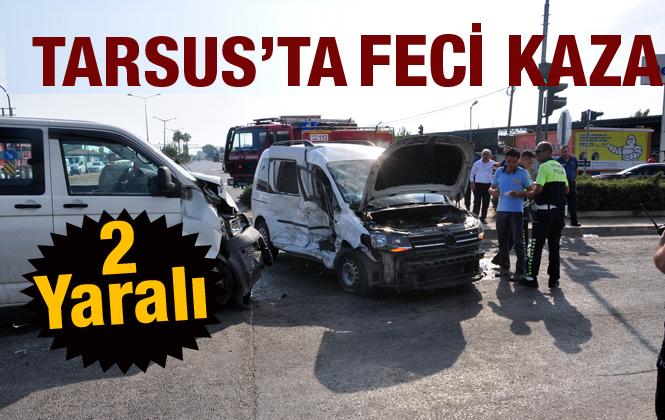 Tarsus'ta meydana gelen trafik kazasında 2 kişi yaralandı.