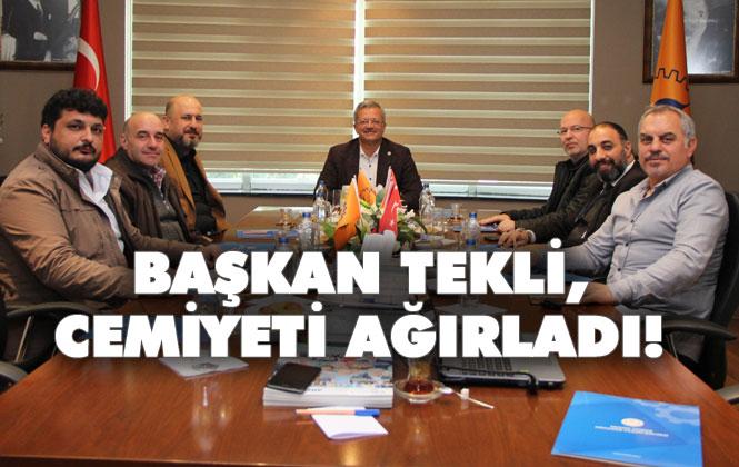 MTOSB Başkanı Tekli, Tarsus Gazeteciler Cemiyeti Yönetimini Ağırladı