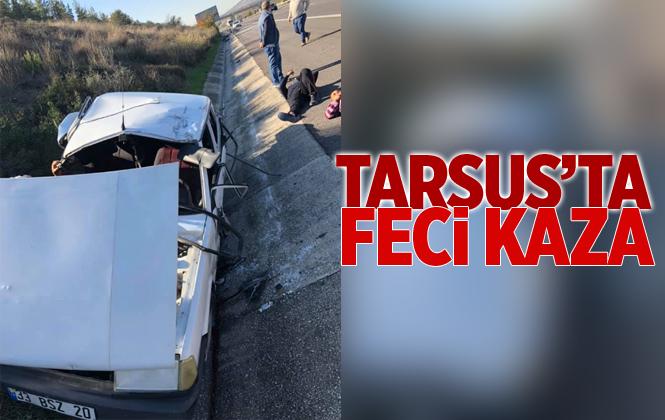 Tarsus'ta Feci Kaza 3 Yaralı