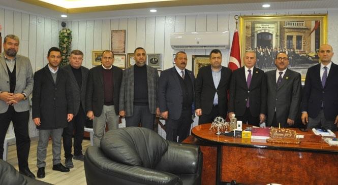 MHP Milletvekilleri Şimşek ve Kılavuz Tarsus Şoförler Odası'nda