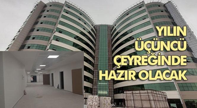 Tarsus Yeni Devlet Hastanesi Yapımı Son Hızla Devam Ediyor
