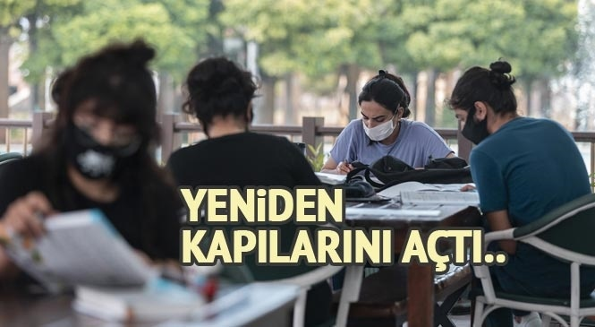Mersin Büyükşehir'in Merkez Kütüphanesi Tekrar Kapılarını Açtı! Kullanıcılara Sosyal Mesafede, Güzel İmkanlar Sunuluyor