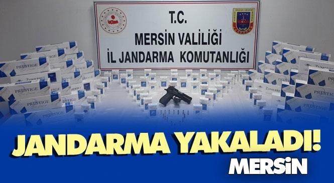 Mersin Tarsus'ta Durdurulan Kaçak Sigara Taşıyan Araçta: 430 Paket Sigara, 1 Ruhsatsız Tabanca Ele Geçirildi