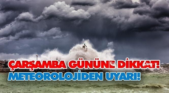 Mersin Dikkat Fırtına Uyarısı! Mgm'den Çarşamba Günü İçin Önemli Uyarı