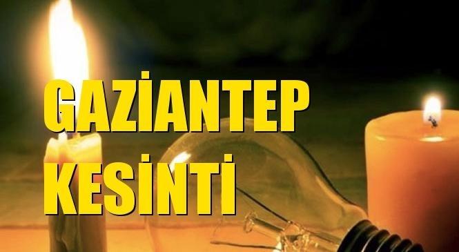 Gaziantep Elektrik Kesintisi 09 Mart Salı