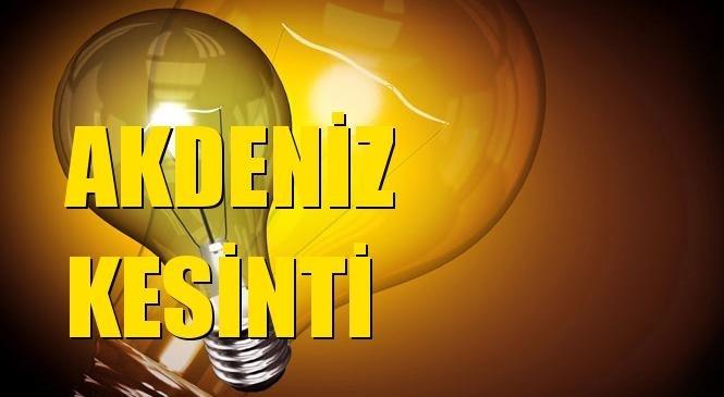 Akdeniz Elektrik Kesintisi 19 Ekim Salı