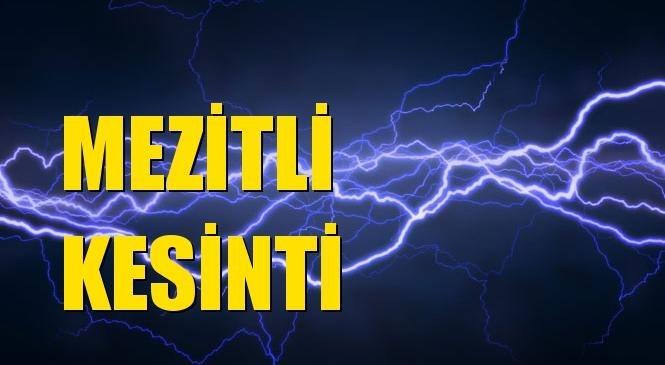 Mezitli Elektrik Kesintisi 19 Ekim Salı