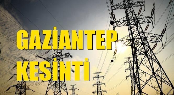 Gaziantep Elektrik Kesintisi 19 Ekim Salı