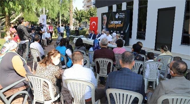 Akdeniz Belediye Başkanı; Nusratiye Mahallesi'ni Ziyaret Etti, Hizmetleri Anlattı, Vatandaşı Dinledi