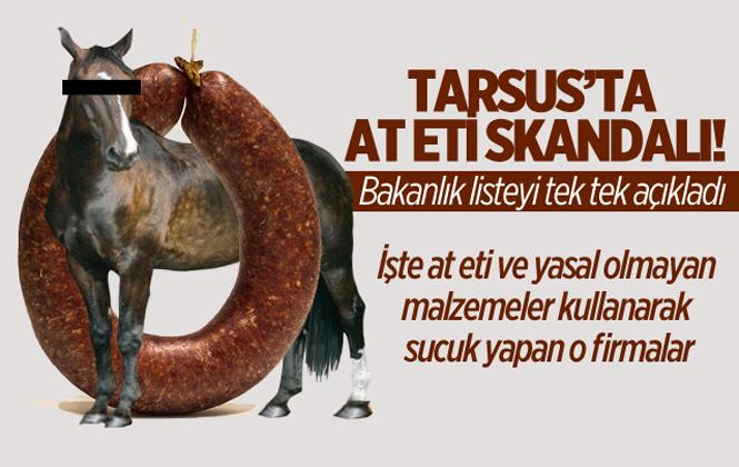 Tarsus'ta Sucuklarda At Eti Çıktı