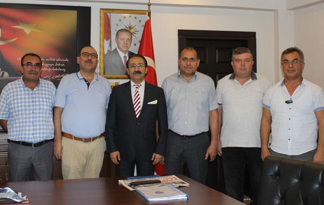 Şen ve Yönetim Kurulu Üyeleri, Emniyet Müdürü Ercan Elbir'i Ziyaret Etti